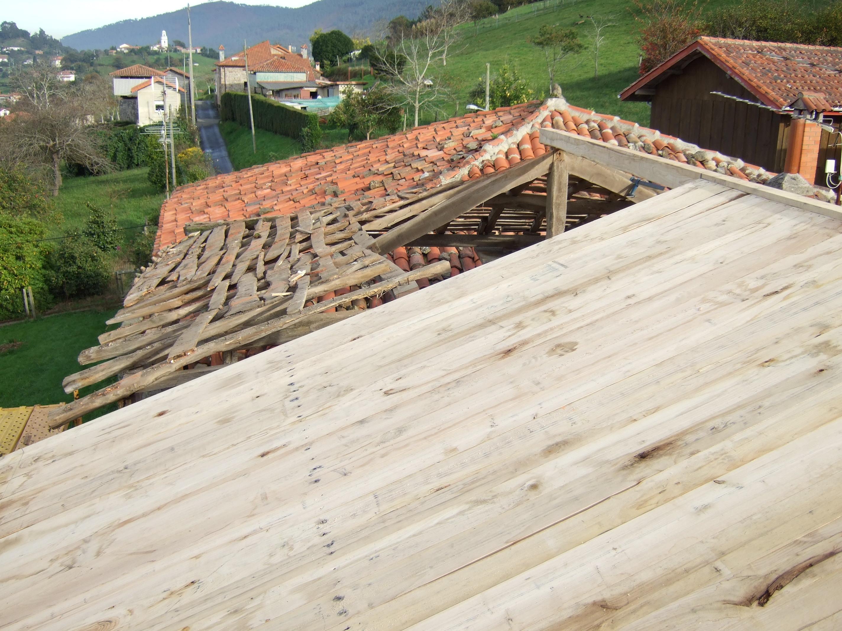 Tejado de madera de Castaño