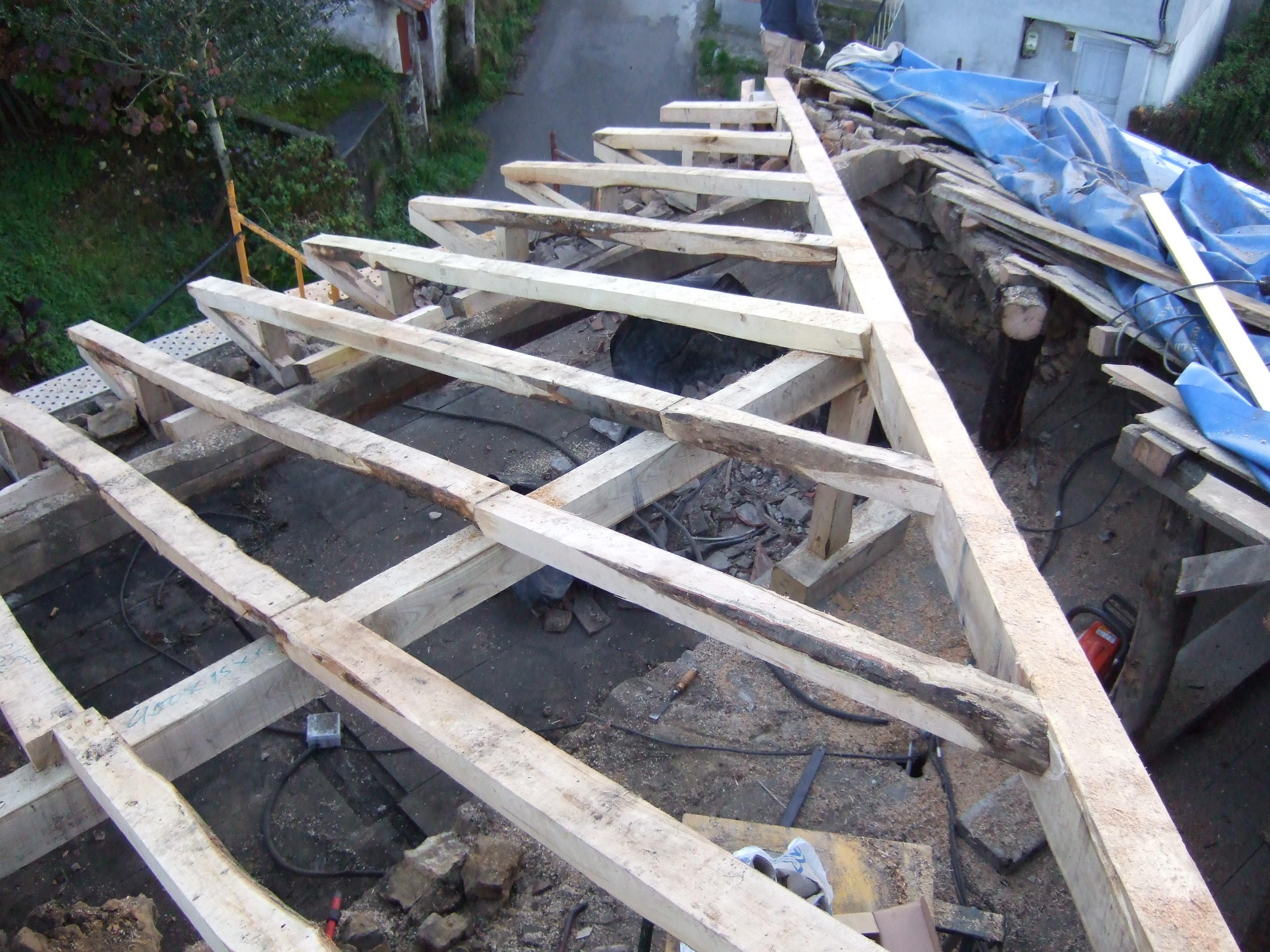 Tejados carpinteria francisco castro - Estructura tejado madera ...