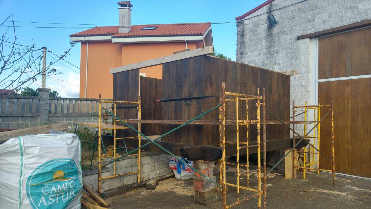 Construcción de Horreo