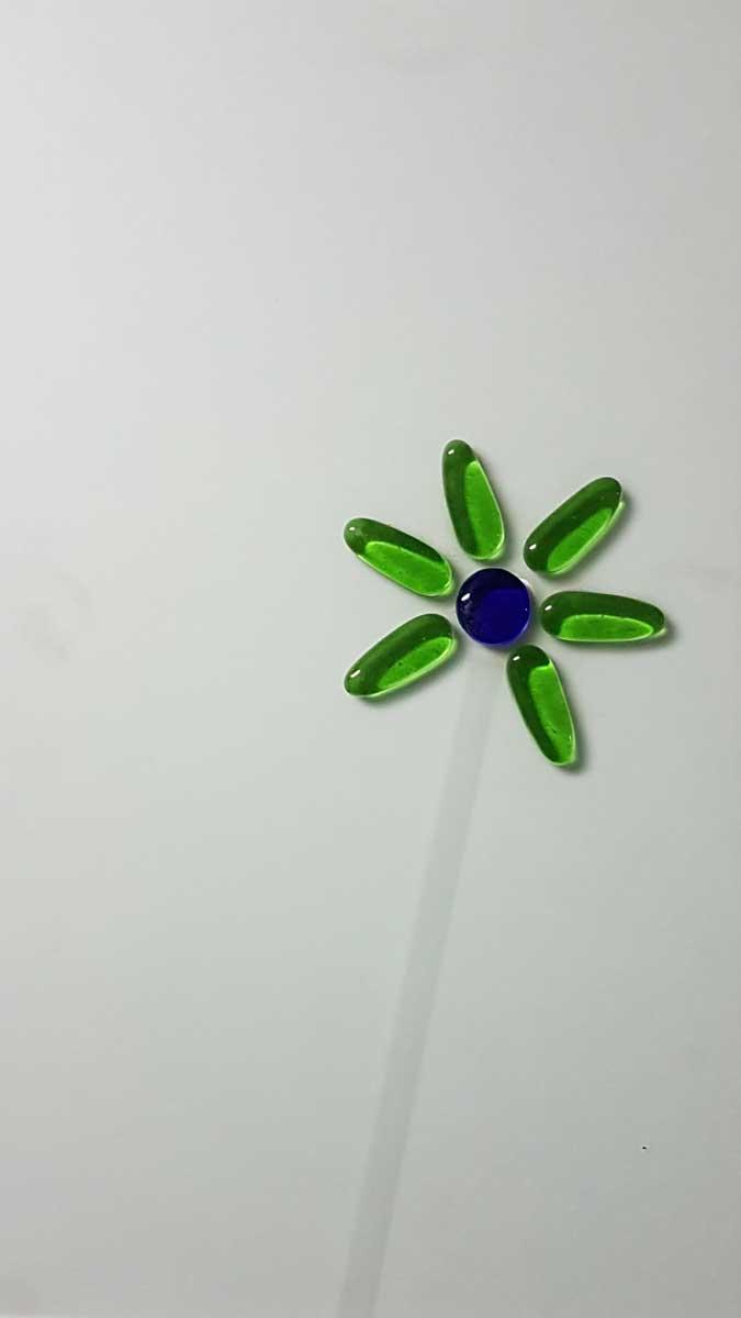 Fushing Flor sobre cristal mate