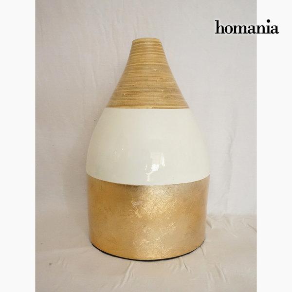 Jarrón de bambú champagne by Homania