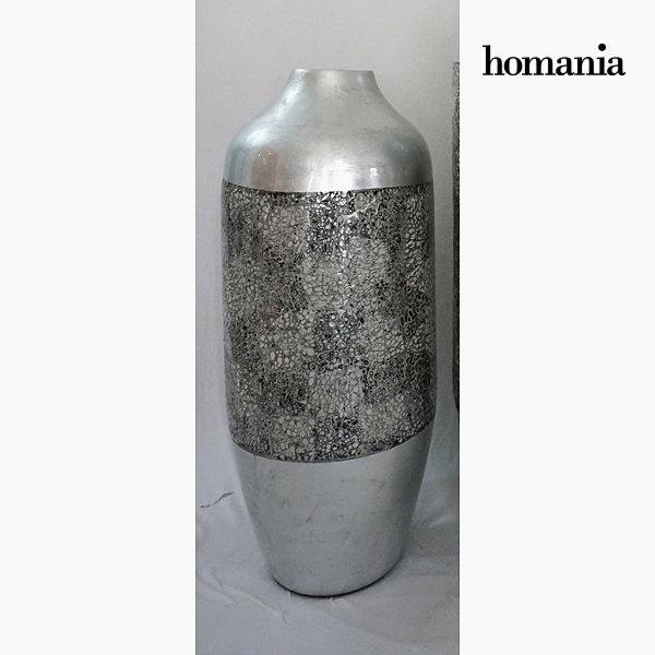 Jarrón bambú cascara y plata by Homania