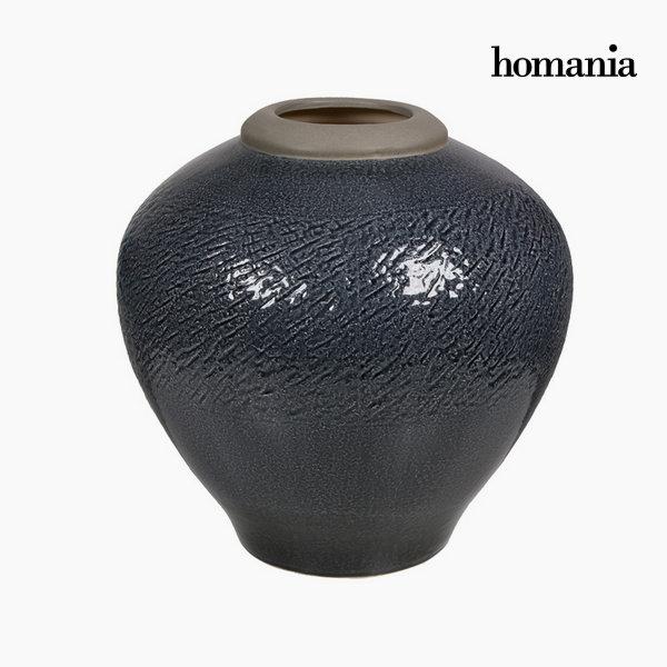 Jarrón de cerámica gris oscuro by Homania