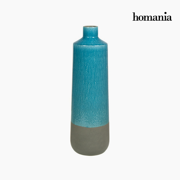 Jarrón cerámica gris y turques by Homania