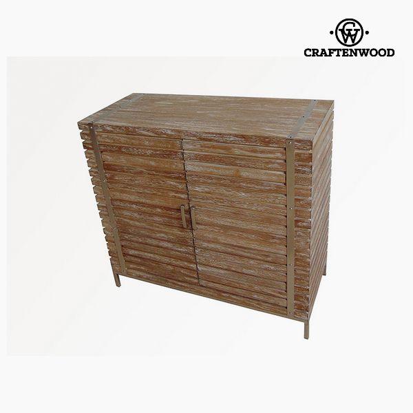 Aparador Madera de teca Acero (90 x 40 x 83 cm) – Colección Village by Craftenwood