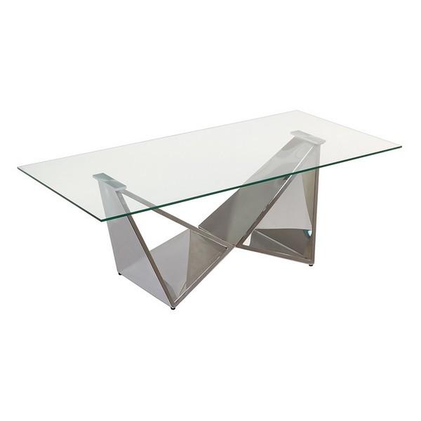 Mesa de Centro Cristal (120 x 60 x 45 cm)