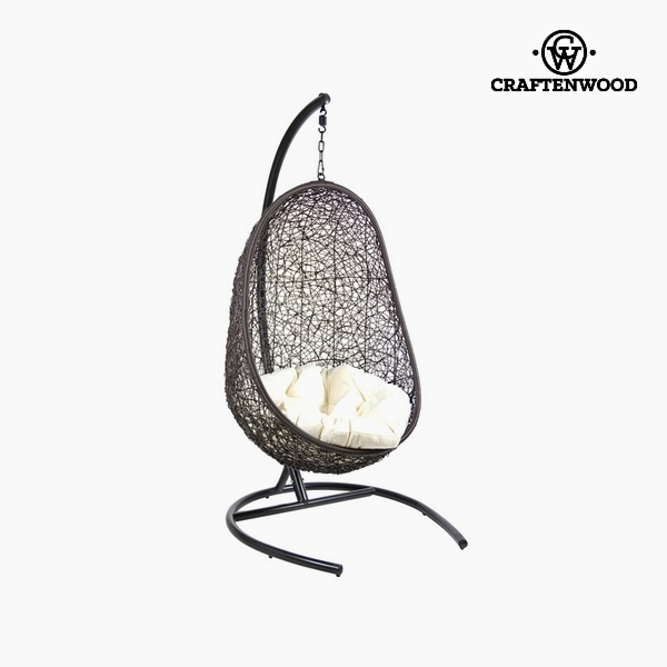 Canasto con cojín Negro (Ø 100 cm) by Craftenwood