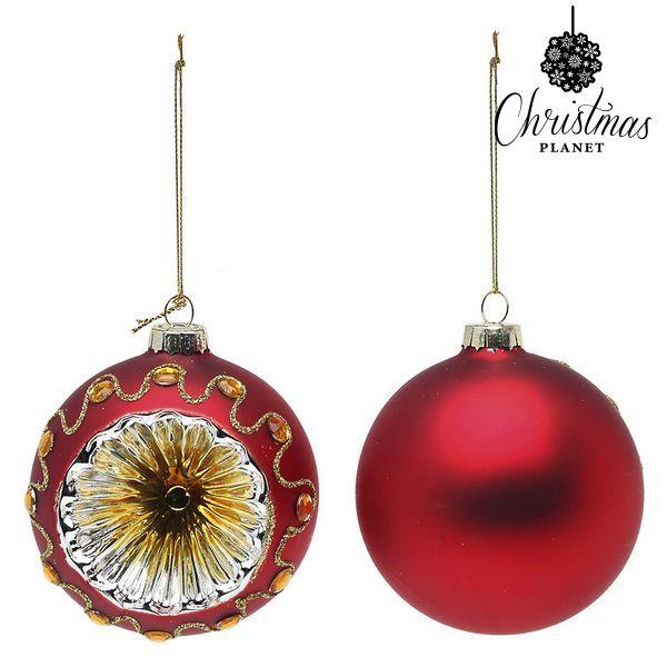 Bolas De Navidad Christmas Planet 1662 8 Cm (2 Uds) Cristal Rojo