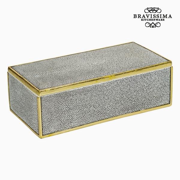 Caja con Tapa Resina Gris (30 x 15 x 9,5 cm) by Homania