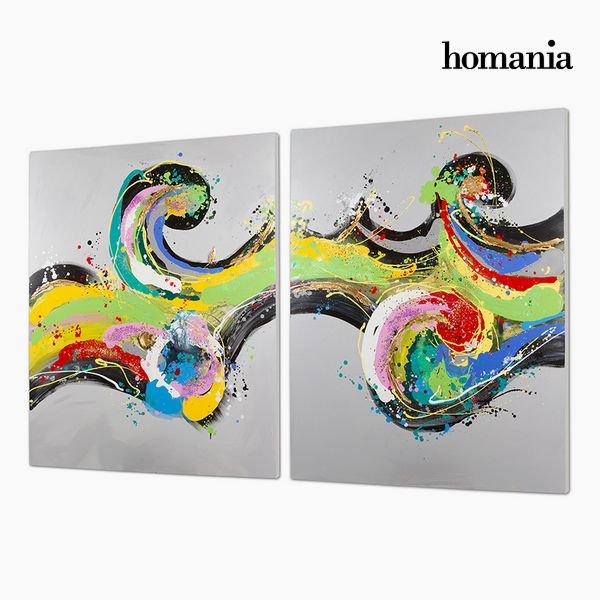 Set de 2 Cuadros Óleo (120 x 3 x 150 cm) by Homania
