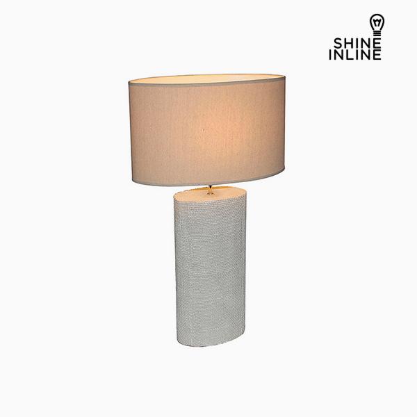 Lámpara de Mesa Crema (50 x 26 x 71 cm) by Shine Inline