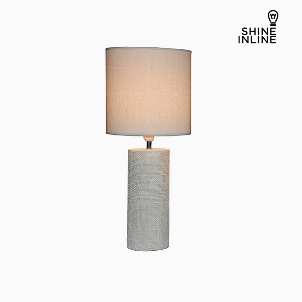 Lámpara de Mesa Crema (29 x 29 x 70 cm) by Shine Inline