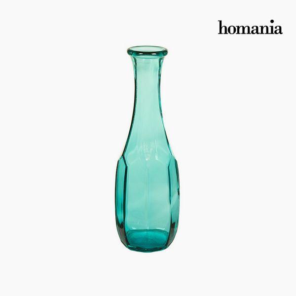 Jarrón de Vidrio Reciclado (13 x 13 x 40 cm) – Colección Pure Crystal Deco by Homania