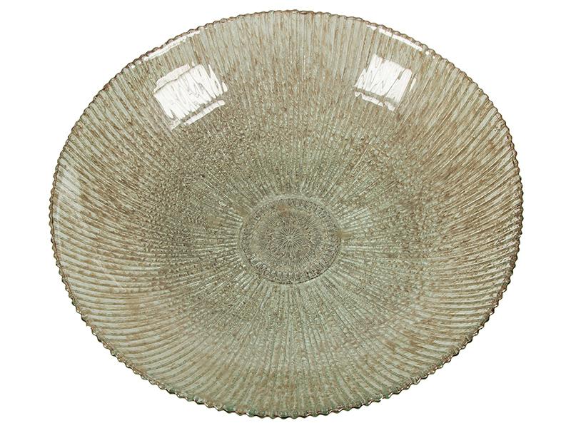 Centro de Mesa de Vidrio Reciclado Marrón – Colección Crystal Colours Deco