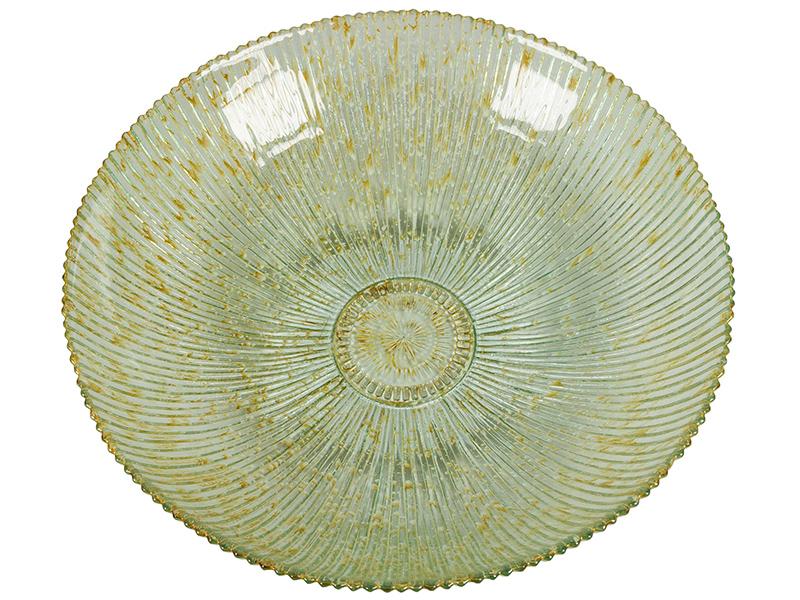 Centro de Mesa de Vidrio Reciclado Beige – Colección Crystal Colours Deco