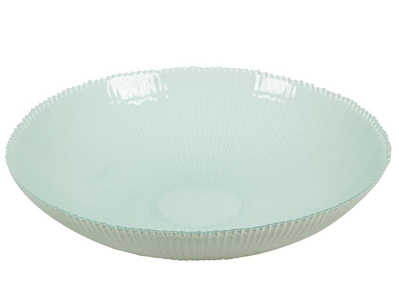 Centro de Mesa de Vidrio Reciclado Blanco – Colección Crystal Colours Deco
