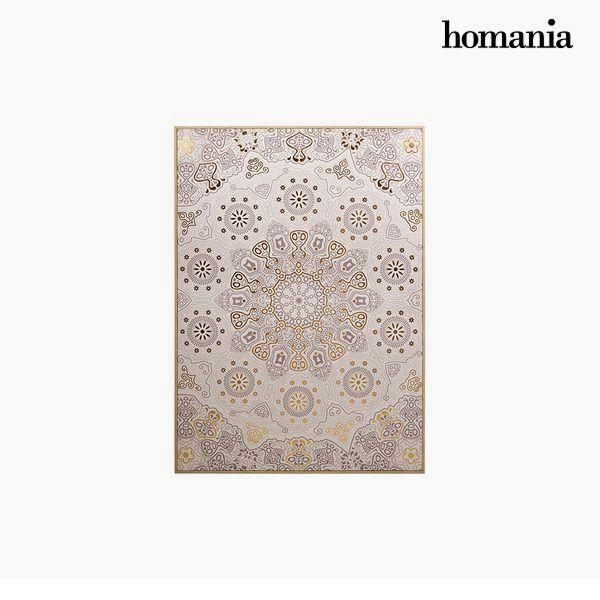 Cuadro Mandala Beige (104 x 4 x 144 cm) by Homania