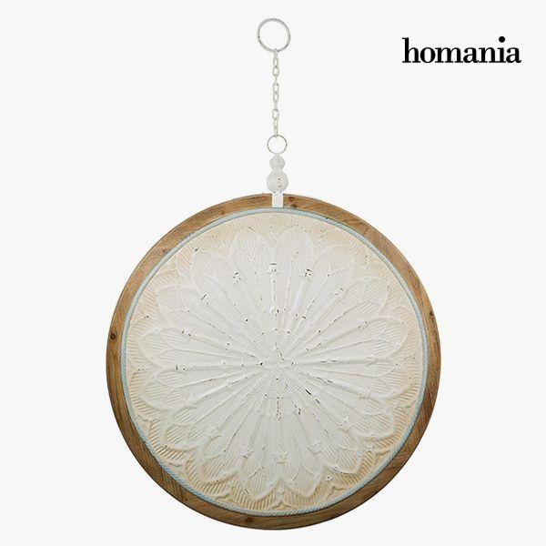 Decoración Colgante Circular Blanco Bronce (91 x 109 x 10 cm) by Homania