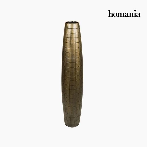 Jarrón de suelo Cerámica Oro (19 x 19 x 100 cm) by Homania