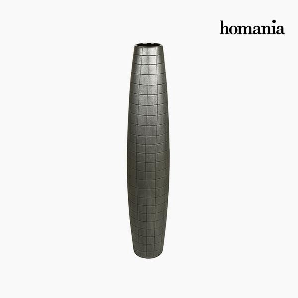 Jarrón de suelo Cerámica Plata (19 x 19 x 100 cm) by Homania