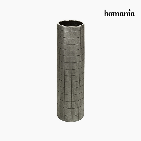 Jarrón Cerámica Plata (16 X 16 X 59 Cm) By Homania