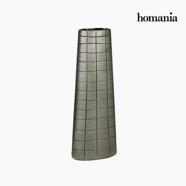 Jarrón Cerámica Plata (19 x 10 x 51 cm) by Homania
