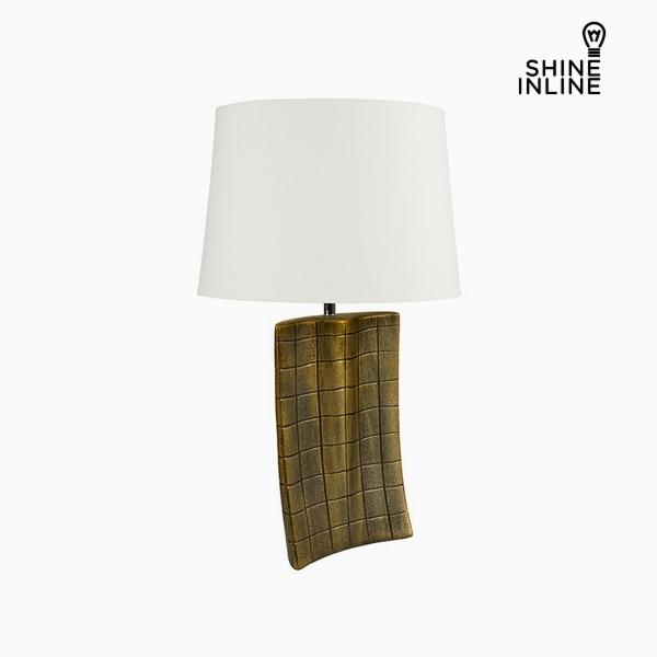 Lámpara de Mesa Oro Cerámica (34 x 9 x 61 cm) by Shine Inline