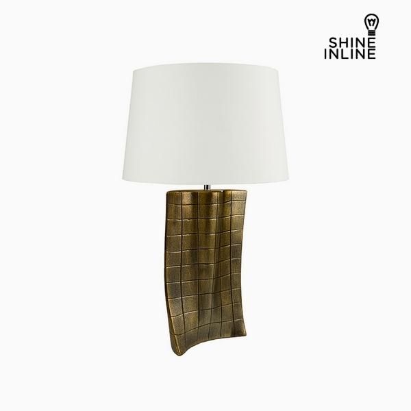 Lámpara de Mesa Oro Cerámica (40 x 9 x 66 cm) by Shine Inline