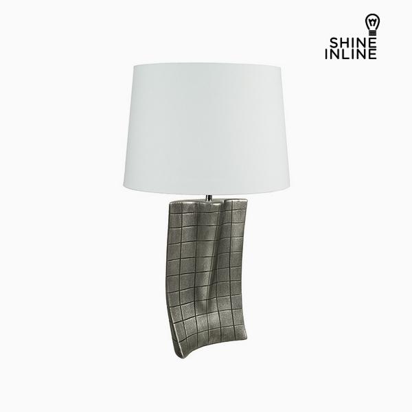 Lámpara de Mesa Plata Cerámica (40 x 9 x 66 cm) by Shine Inline