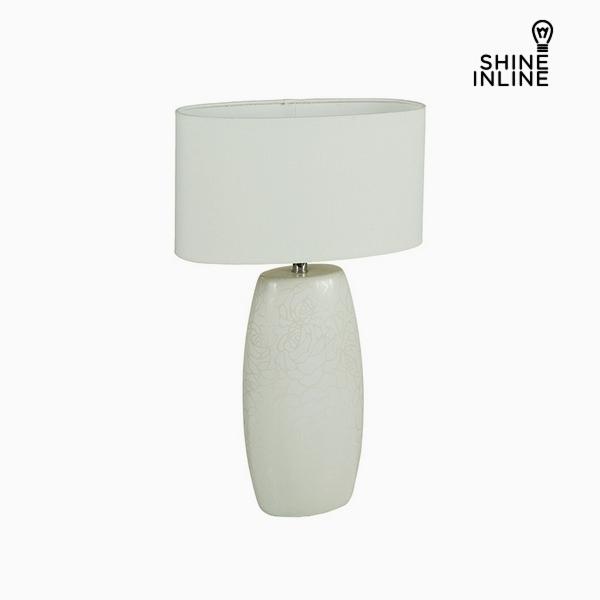 Lámpara de Mesa Blanco Cerámica (14 x 9 x 26 cm) by Shine Inline