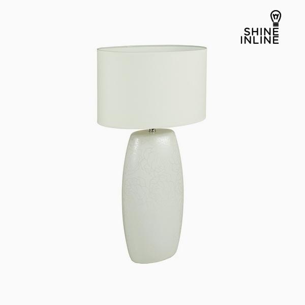 Lámpara de Mesa Blanco Cerámica (16 x 11 x 31 cm) by Shine Inline