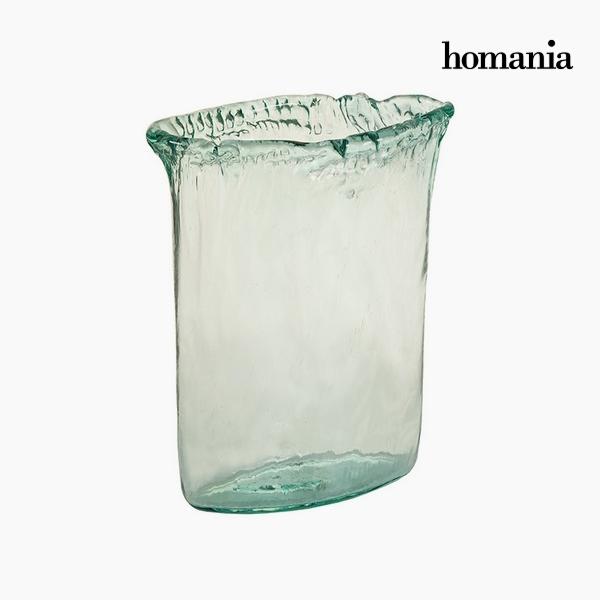 Jarrón Vidrio reciclado Transparente (26 x 11 x 34 cm) by Homania