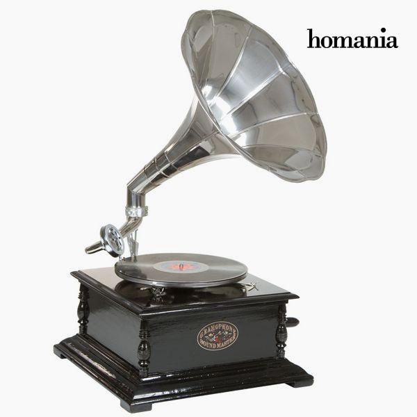 Gramófono Cuadrado Negro Plata – Colección Old Style by Homania