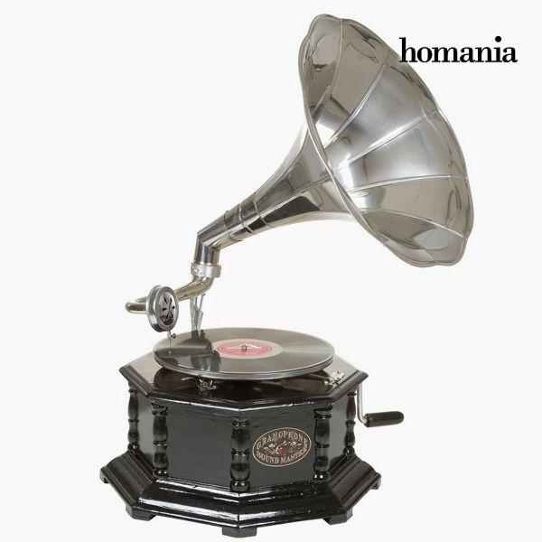Gramófono Octogonal Negro Plata – Colección Old Style by Homania