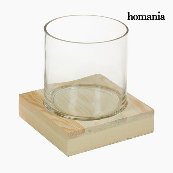 Jarrón Vidrio Madera – Colección Pure Crystal Deco by Homania