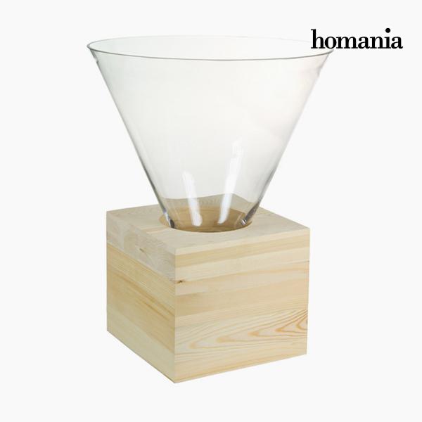 Centro de Mesa Vidrio Madera – Colección Pure Crystal Deco by Homania