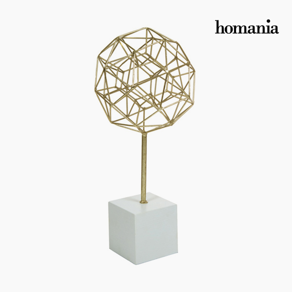 Figura Decorativa Poliedro Oro by Homania