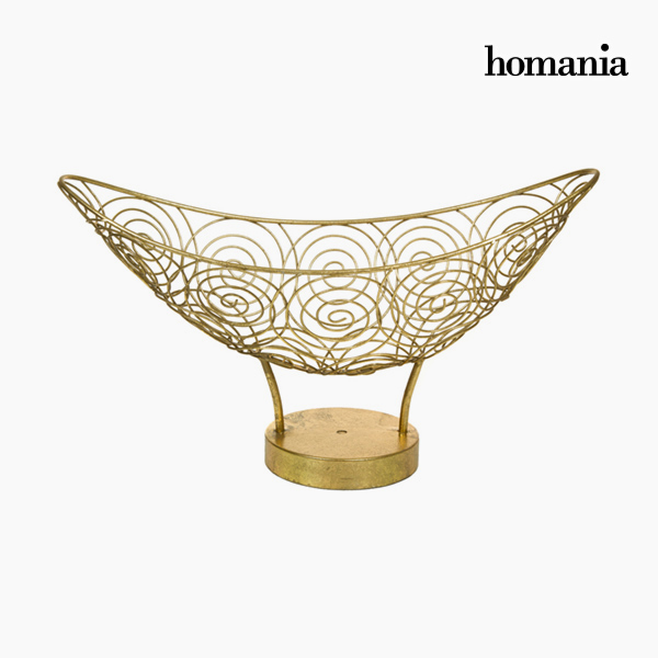 Centro de Mesa Metal Dorado – Colección New York by Homania