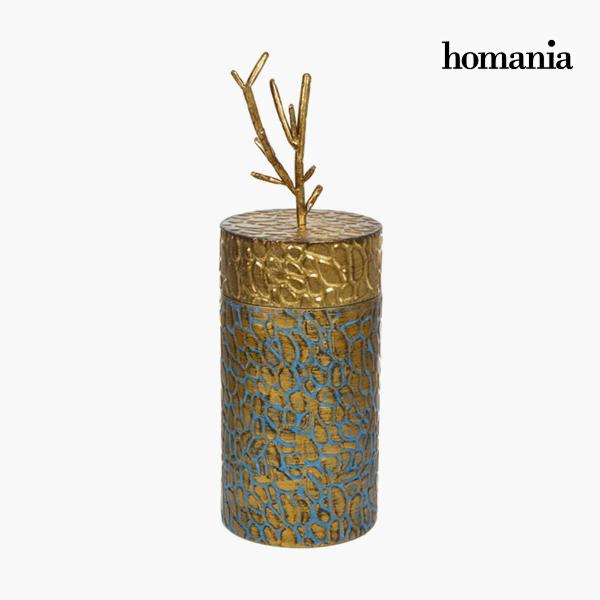 Caja con Tapa Metal Dorado by Homania