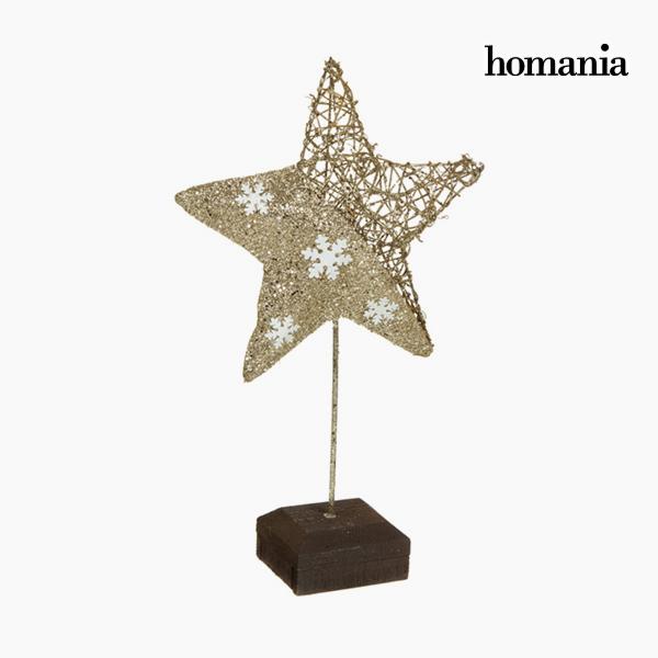 Figura Decorativa Estrella Champán Oro by Homania
