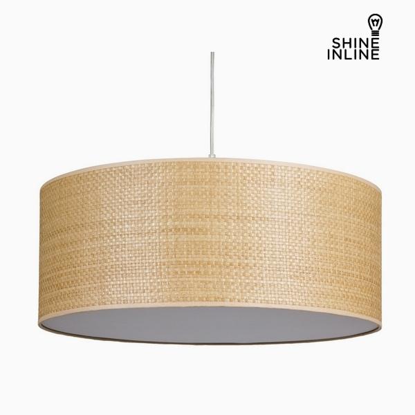 Lámpara de Techo Rafia Algodón y poliéster (50 x 50 x 20 cm) by Shine Inline