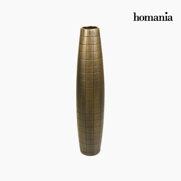 Jarrón de suelo Cerámica Oro (17 x 17 x 80 cm) by Homania
