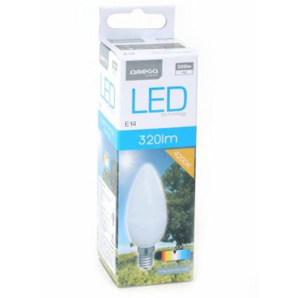 Bombilla LED Vela Omega E14 4W 320 Lm 4200 K Luz Natural