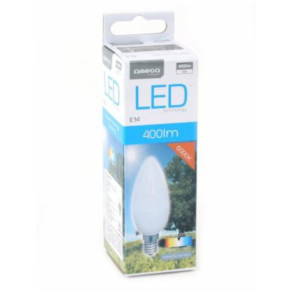 Bombilla LED Vela Omega E14 5W 400 lm 6000 K Luz Blanca