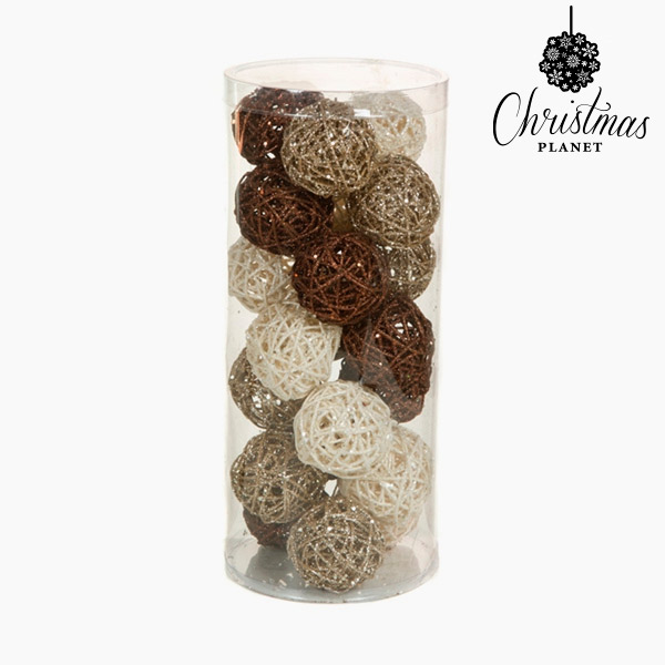 Bolas de Navidad Café Blanco Champán (21 pcs) by Christmas Planet