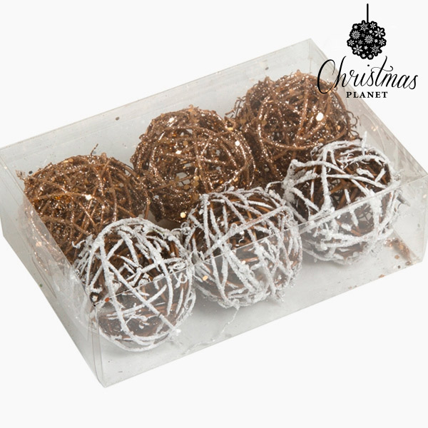 Bolas de Navidad Blanco Oro (6 pcs) by Christmas Planet