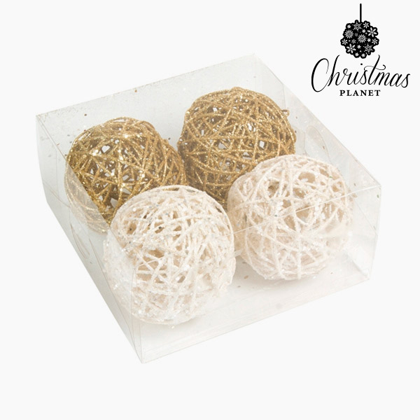 Bolas de Navidad Blanco Oro (4 pcs) by Christmas Planet