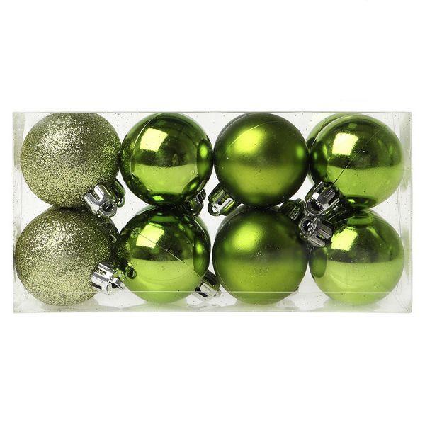 Bolas de Navidad Christmas Planet 6479 4 cm (16 uds) Verde