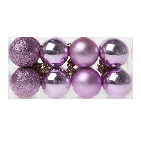 Bolas de Navidad Christmas Planet 6721 4 cm (16 uds) Morado