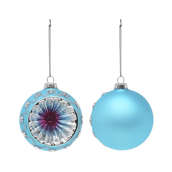 Bolas De Navidad Christmas Planet 1693 8 Cm (2 Uds) Cristal Azul